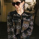 Look preto e dourado – Milan Fashion Week