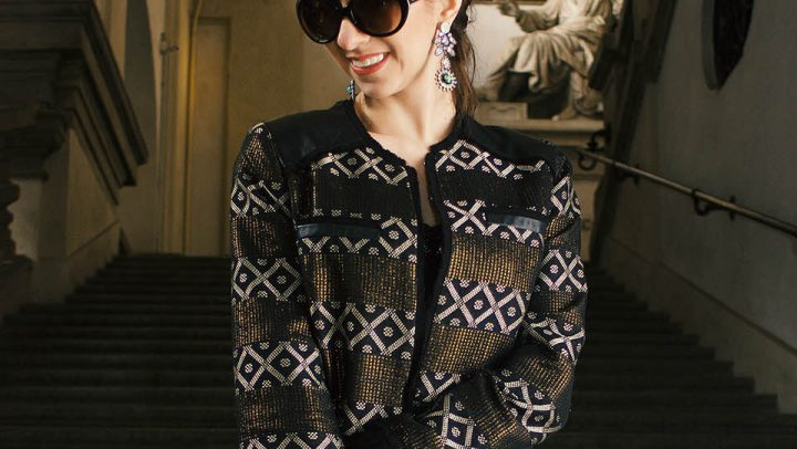 Look preto e dourado – Milan Fashion Week