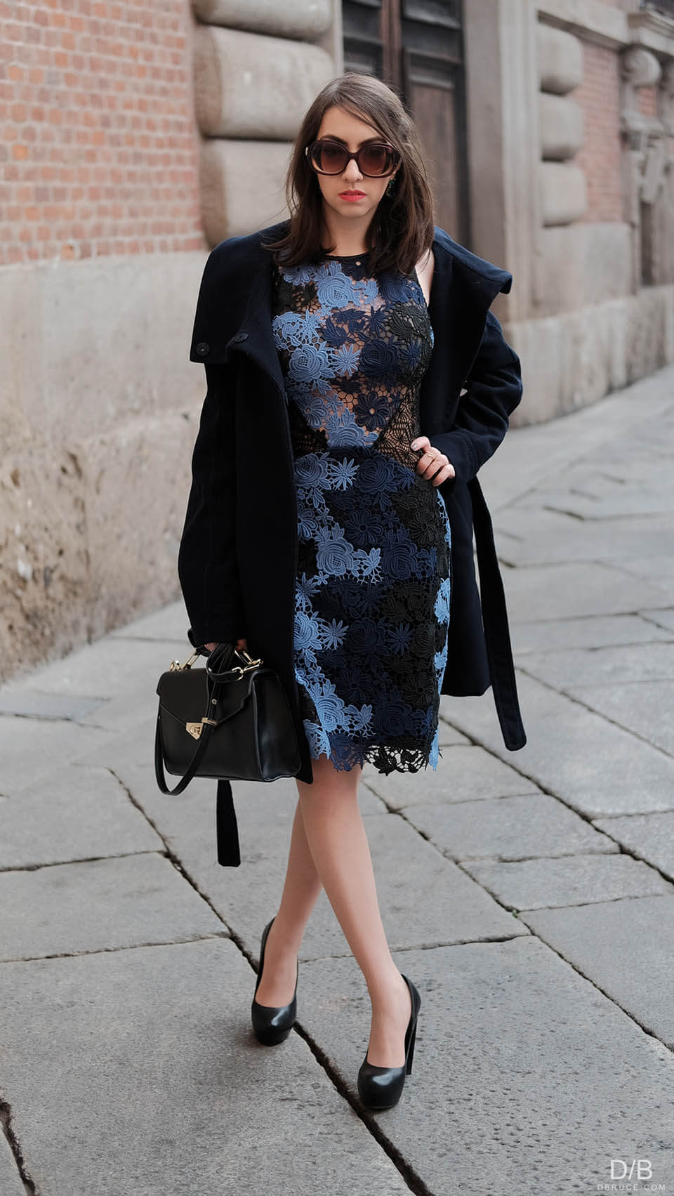 Manu Luize - floral dress and coat
