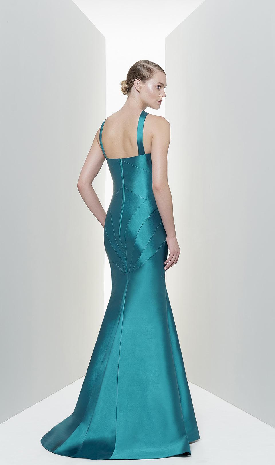 Vestido de formatura longo azul
