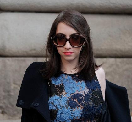 Vestido floral – Look da Milan Fashion Week