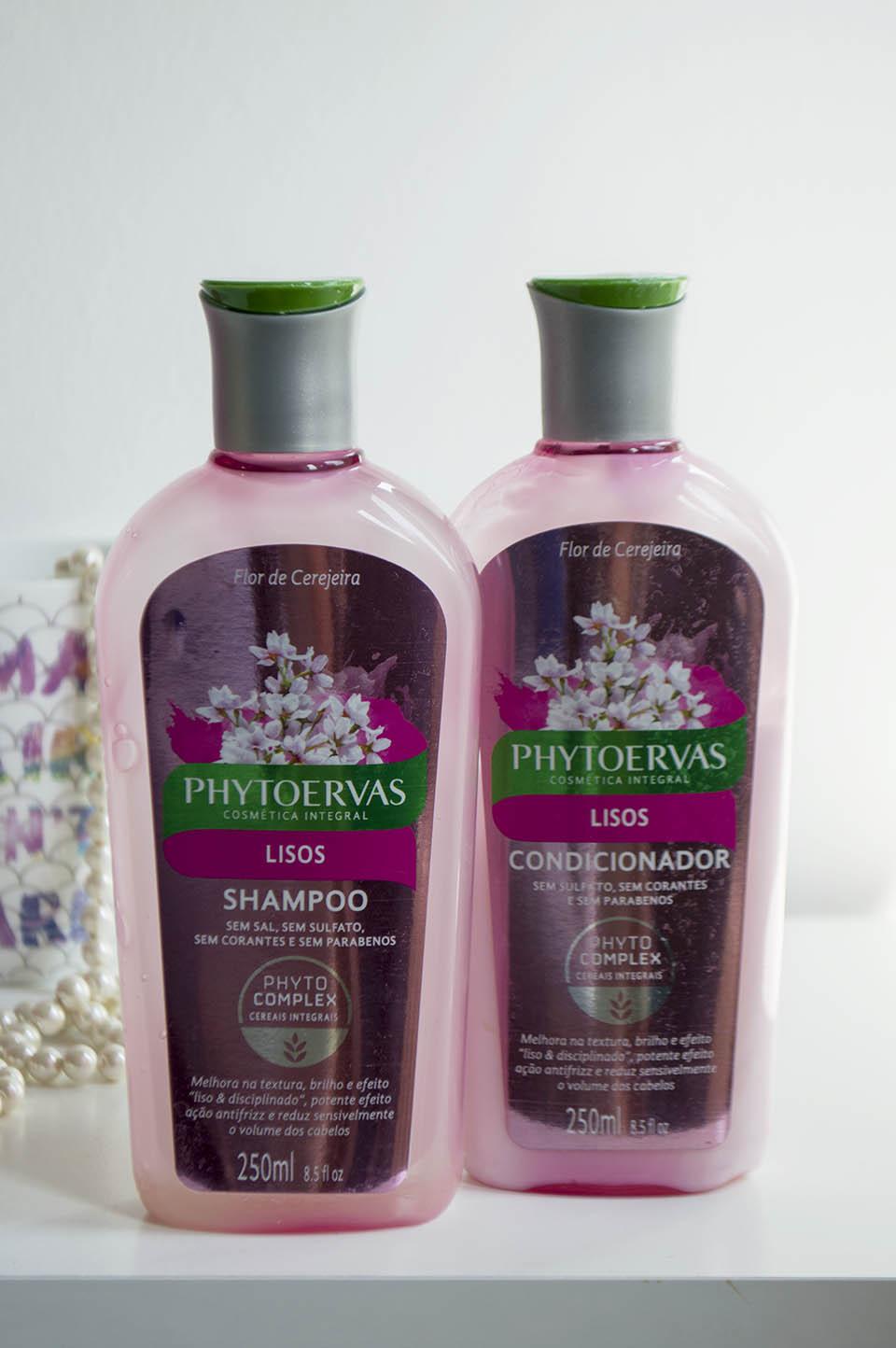 Shampoo Phytoervas para cabelo liso
