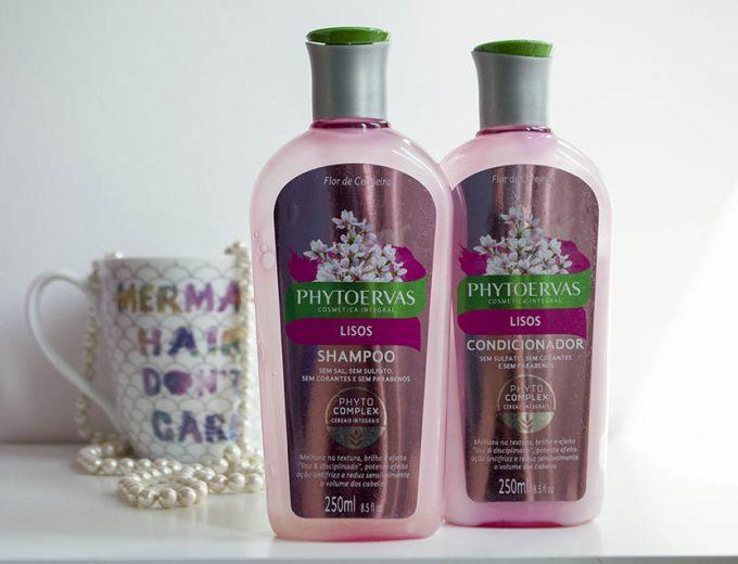 Shampoo Phytoervas para cabelo liso e condicionador (Resenha)