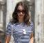 Vestido listrado: Look em Milão