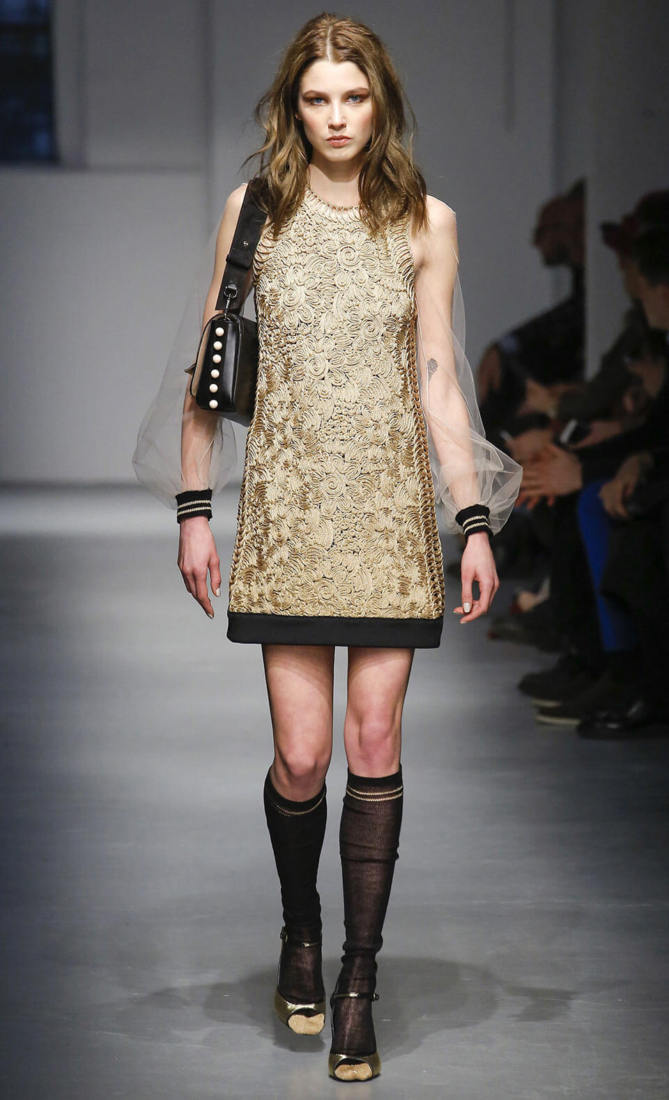 Vestido dourado - Les Copains