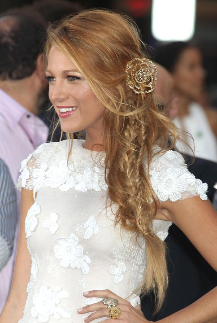 Blake Lively hairstyle with braids
