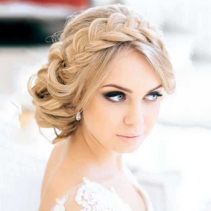 Braided hairstyle for brides