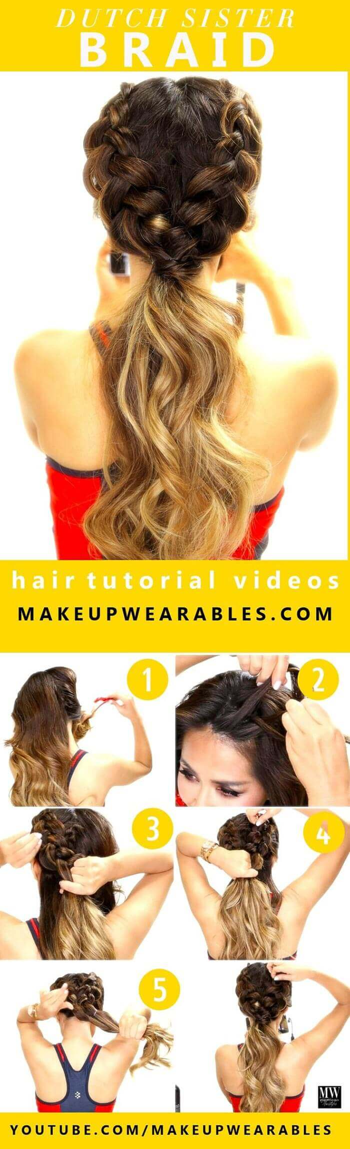 Dutch braid tutorial