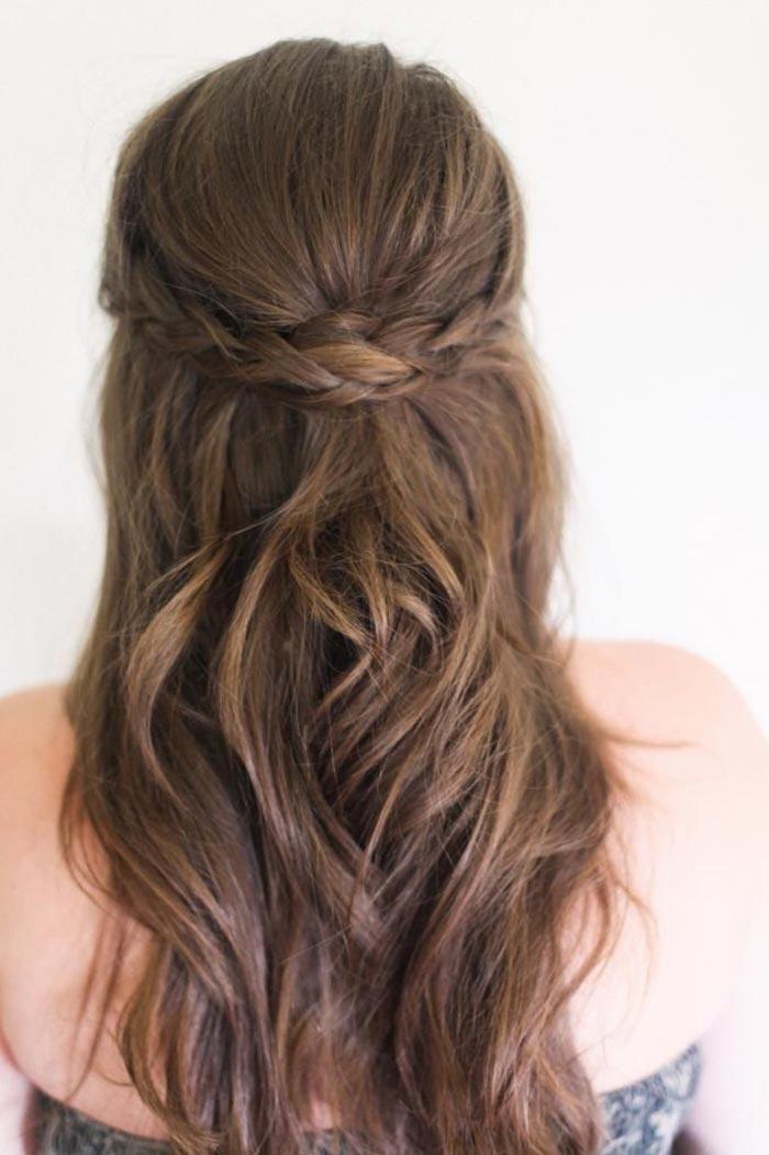 Long hair braided hairstyle