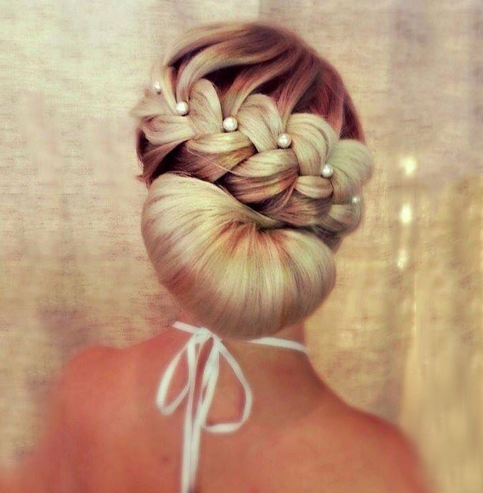 Pearls Braided Hairstyle