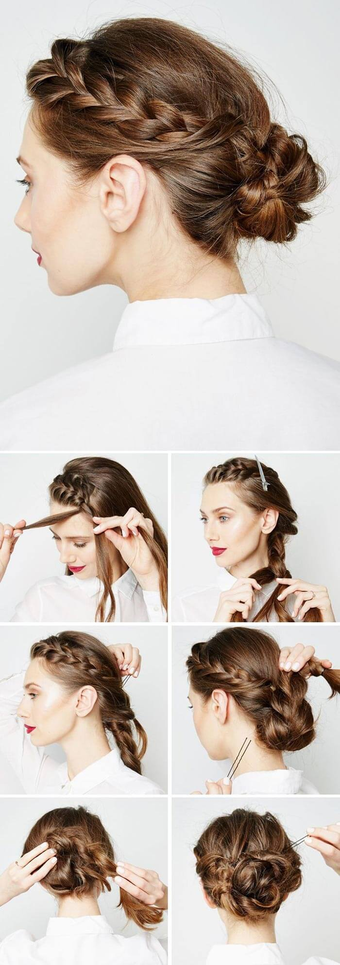 Tutorial braided hairstyle