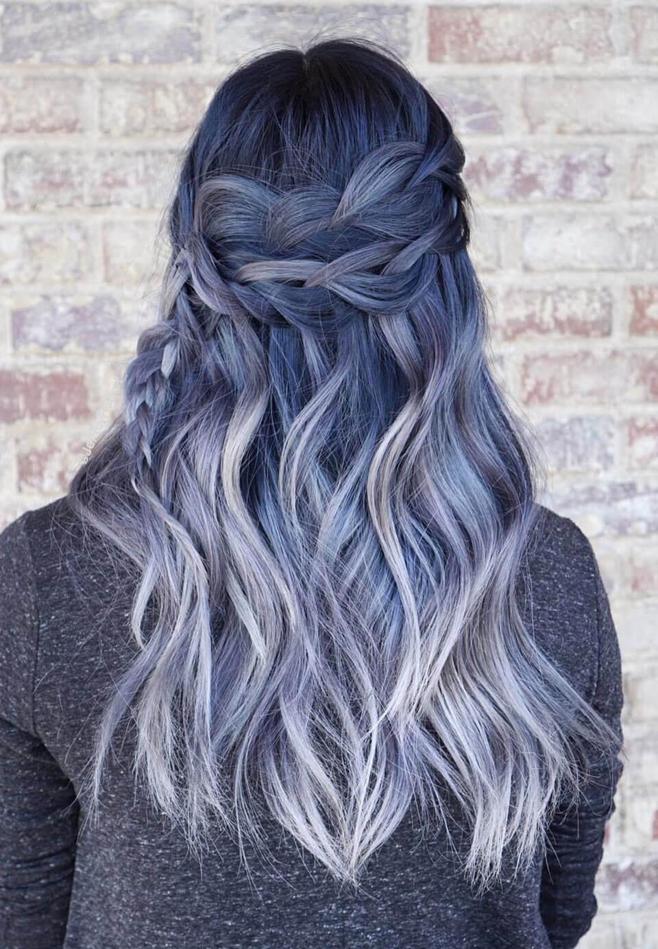 Cabelo azul: cabelos coloridos