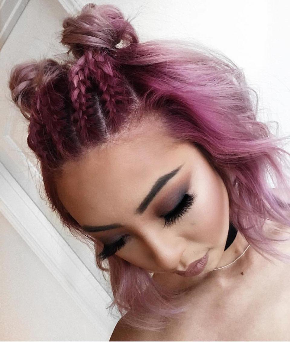 Cabelo rosa: Cabelos coloridos
