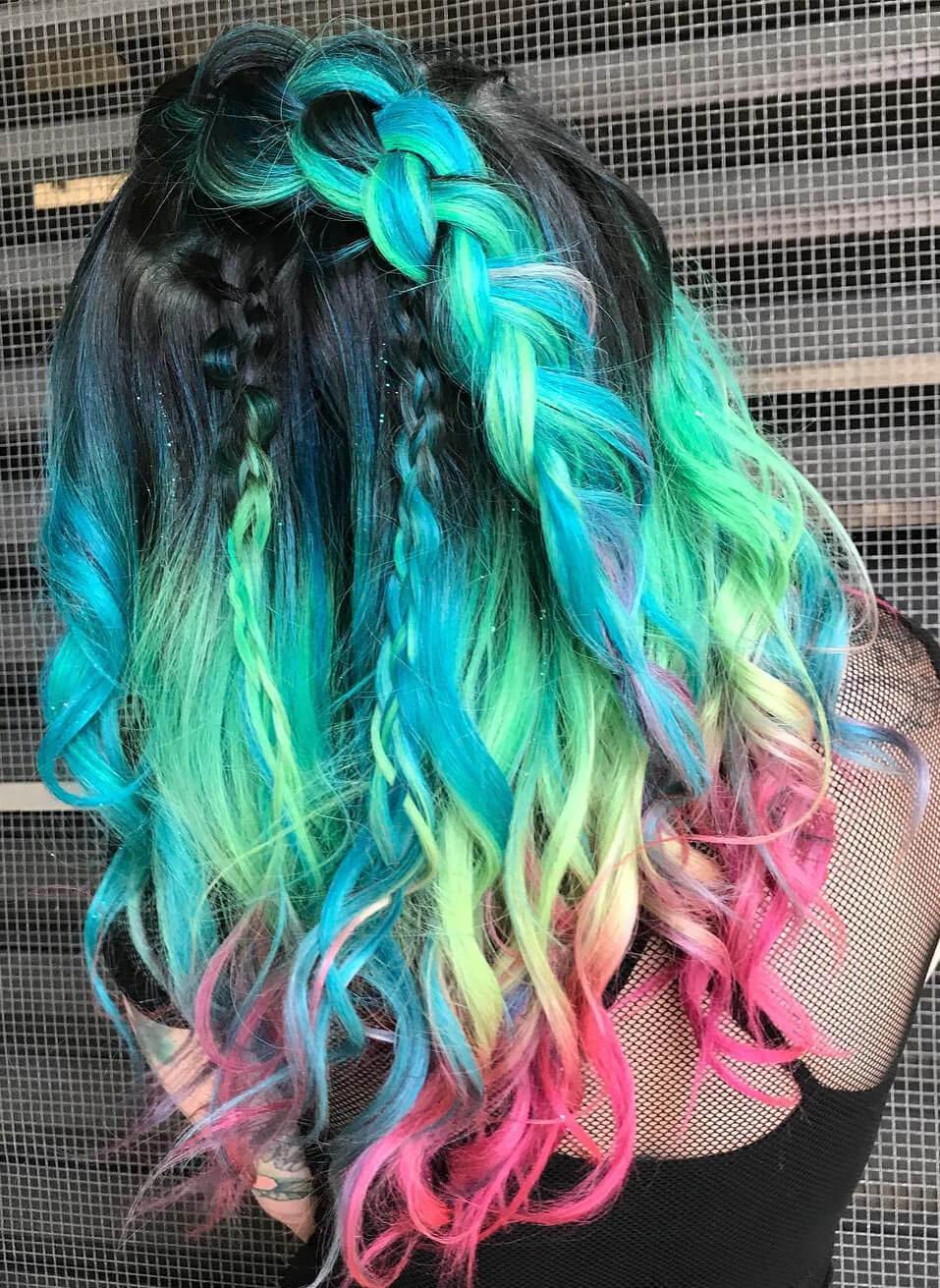 Cabelos coloridos incríveis