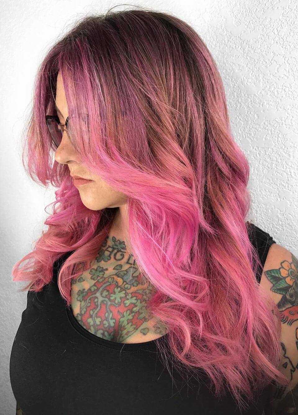 Cabelos rosa