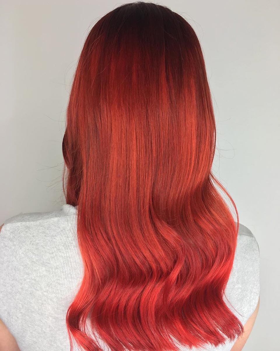 Cabelos vermelhos lindos