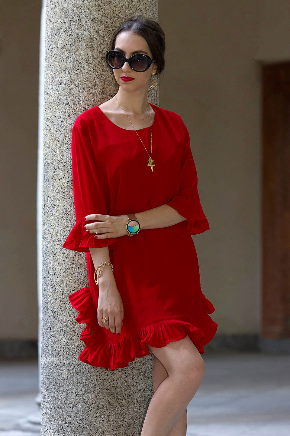 Red Dress outfit from StyleWe