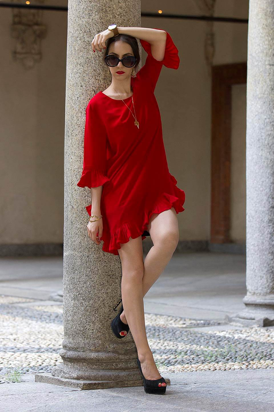 Red dress StyleWe