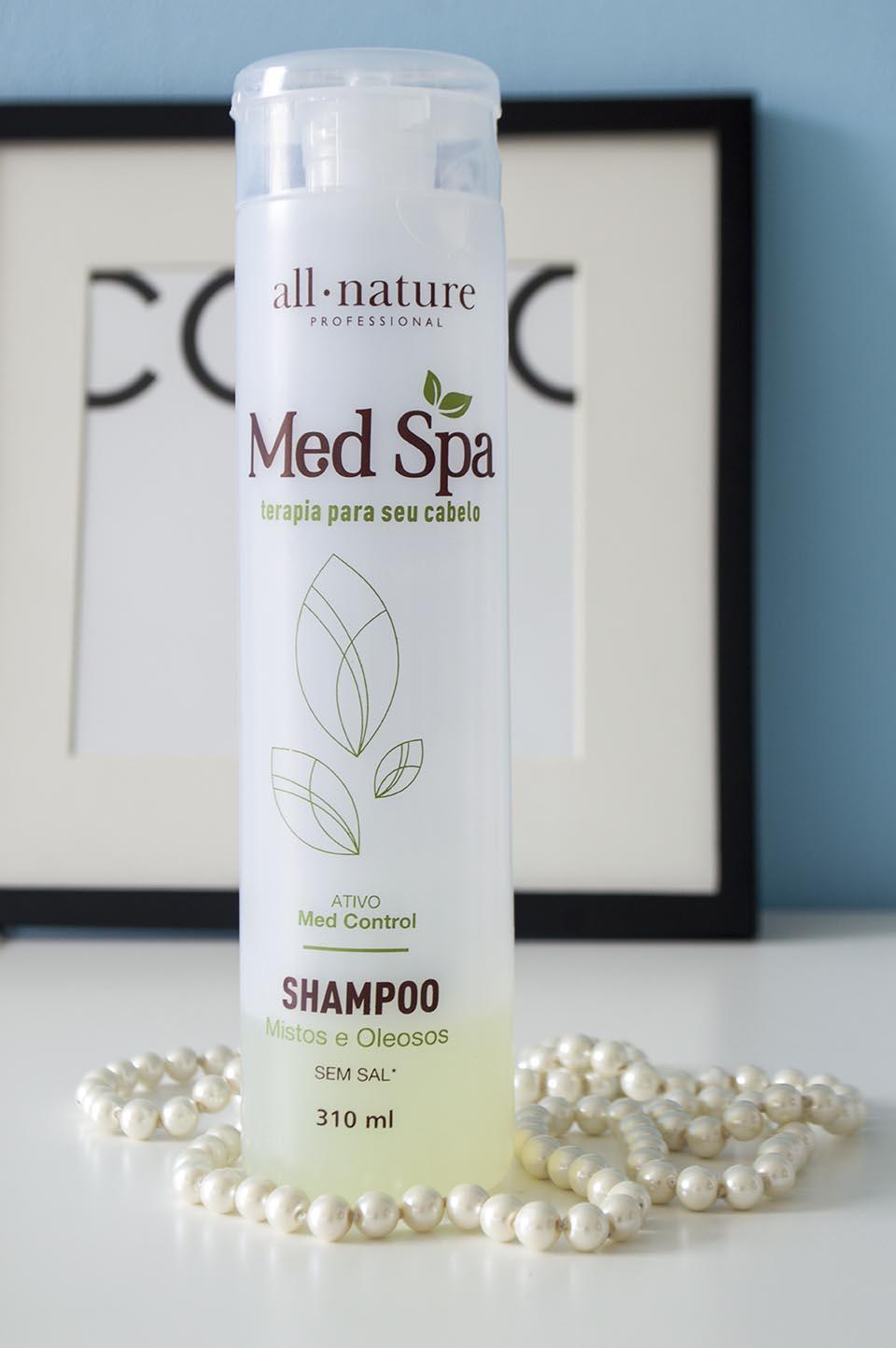 Shampoo para cabelos oleosos Med Spa da All Nature