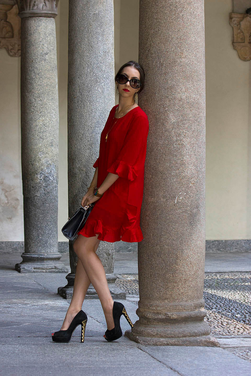 Short red dress from StyleWe
