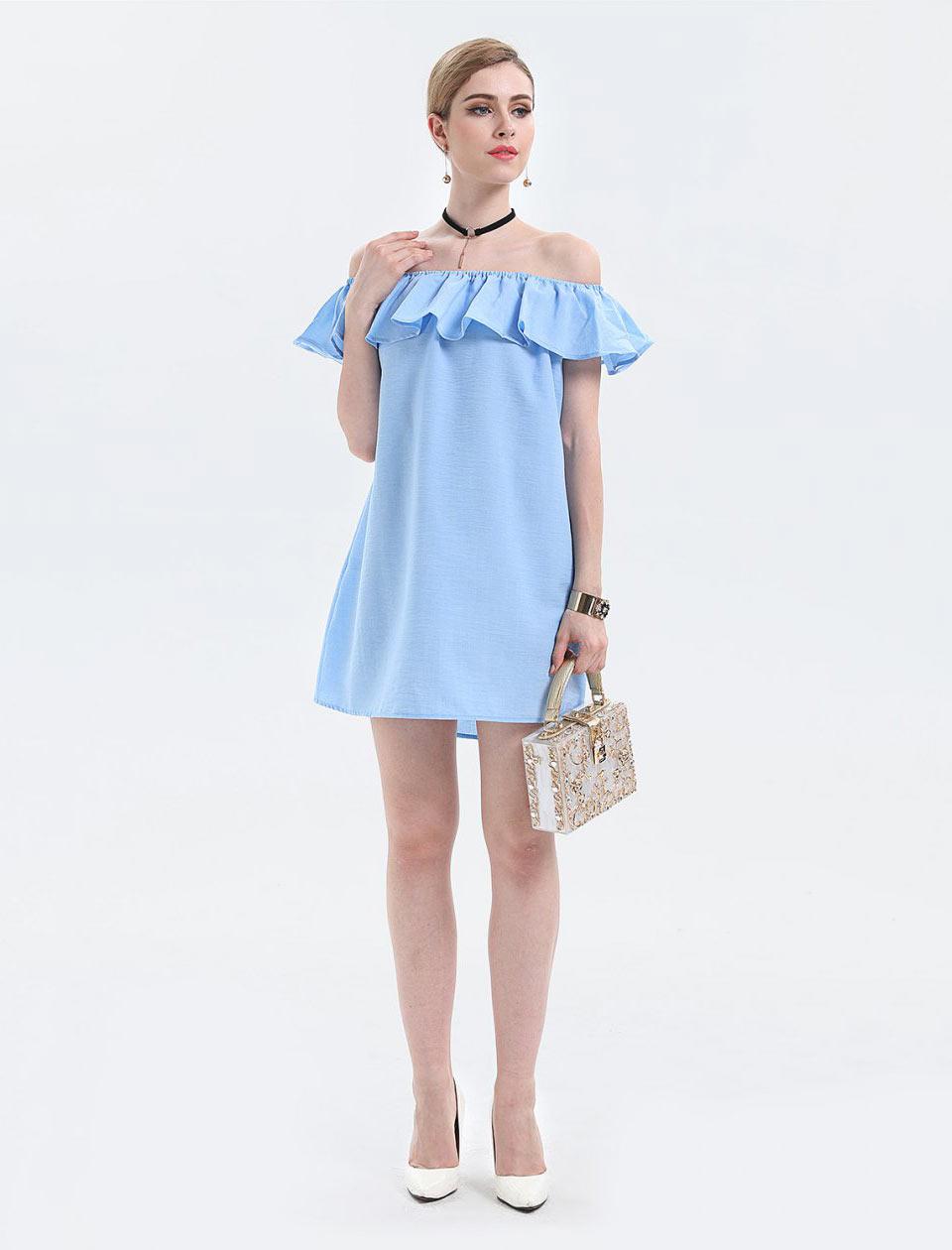 Vestido de verão azul