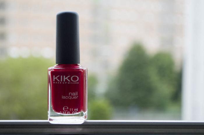 Esmalte vermelho Kiko 285