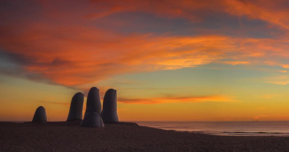 Los Dedos em Punta del Este