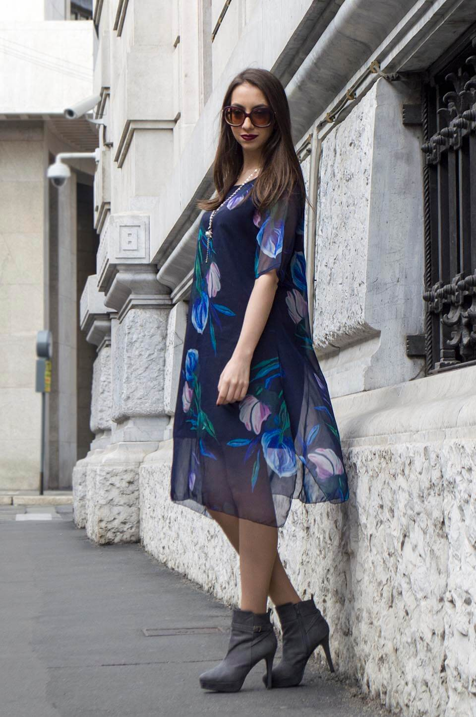 Floral Print dress in Milan