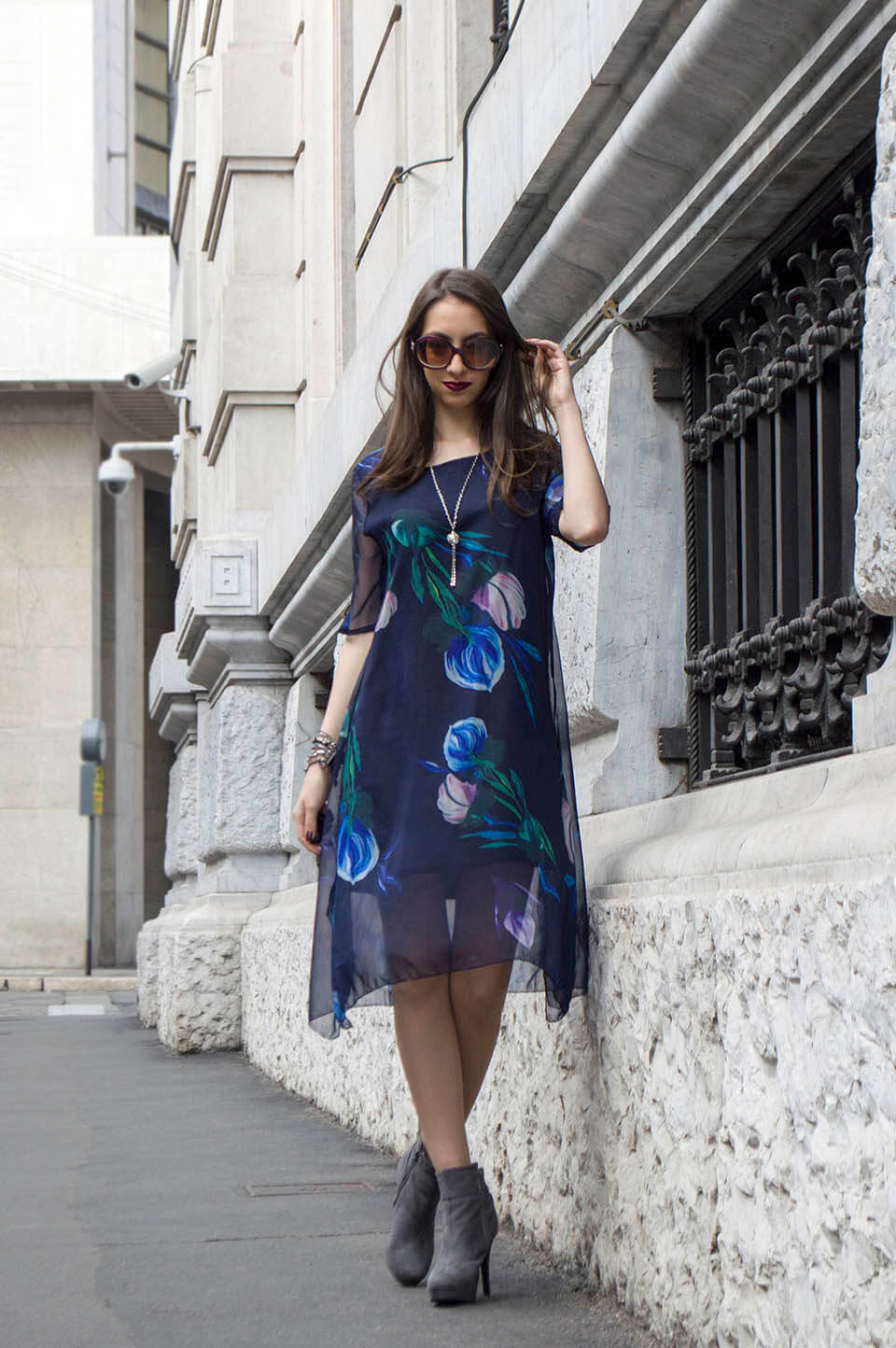 Floral print dress from Stylewe
