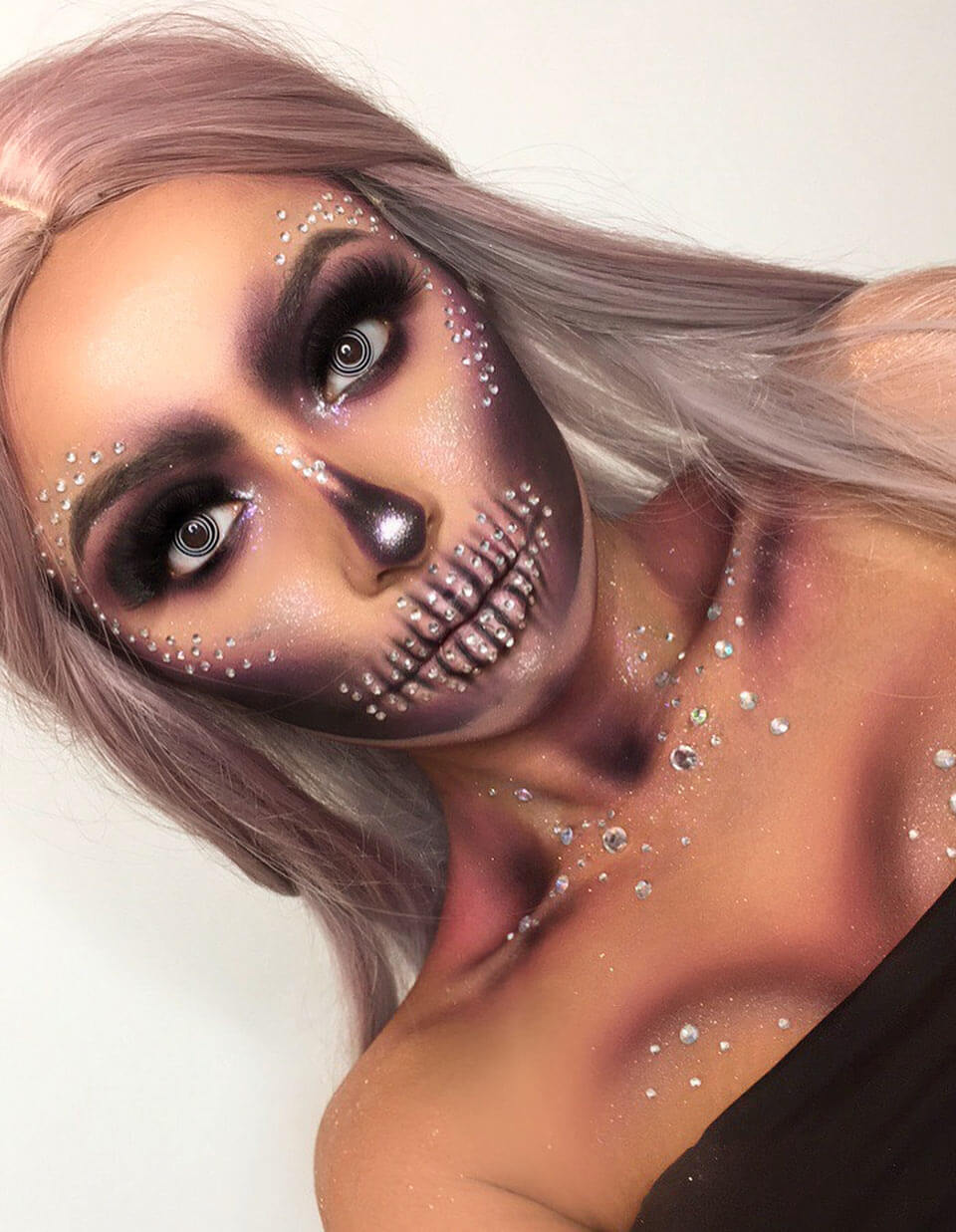Glam Skull - Halloween Makeup