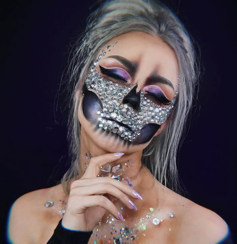 Halloween Makeup Glam Skull
