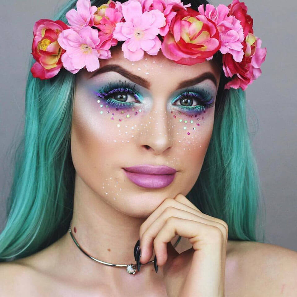 Halloween Makeup as a Mermaid