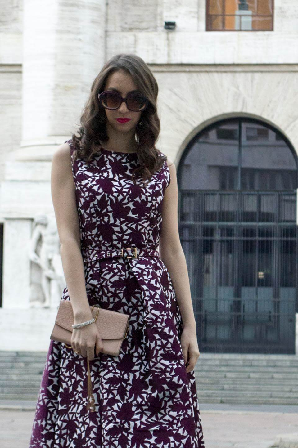 Manu Luize with midi dress