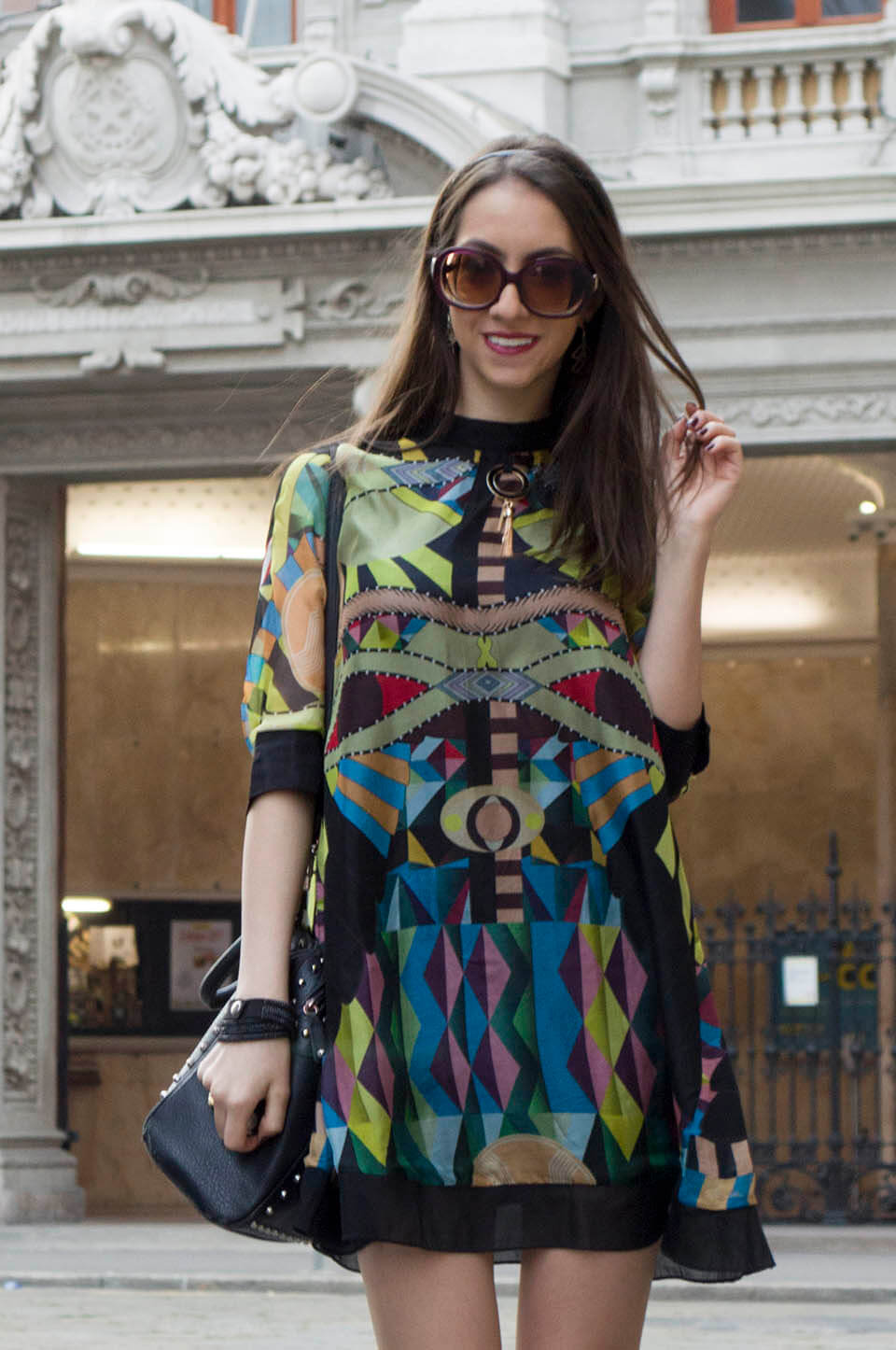 Print colorful dress from StyleWe