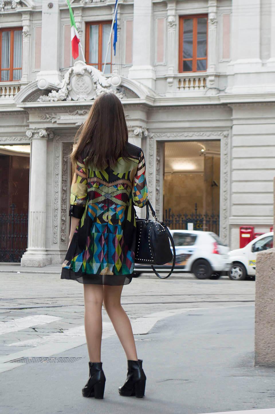 Print dress outfit - Milan
