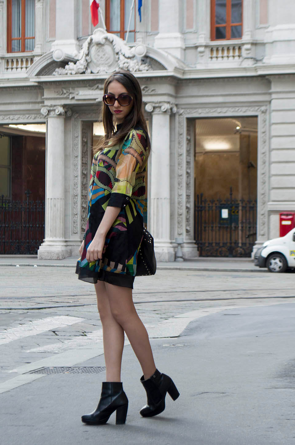Print dress StyleWe - Manu Luize