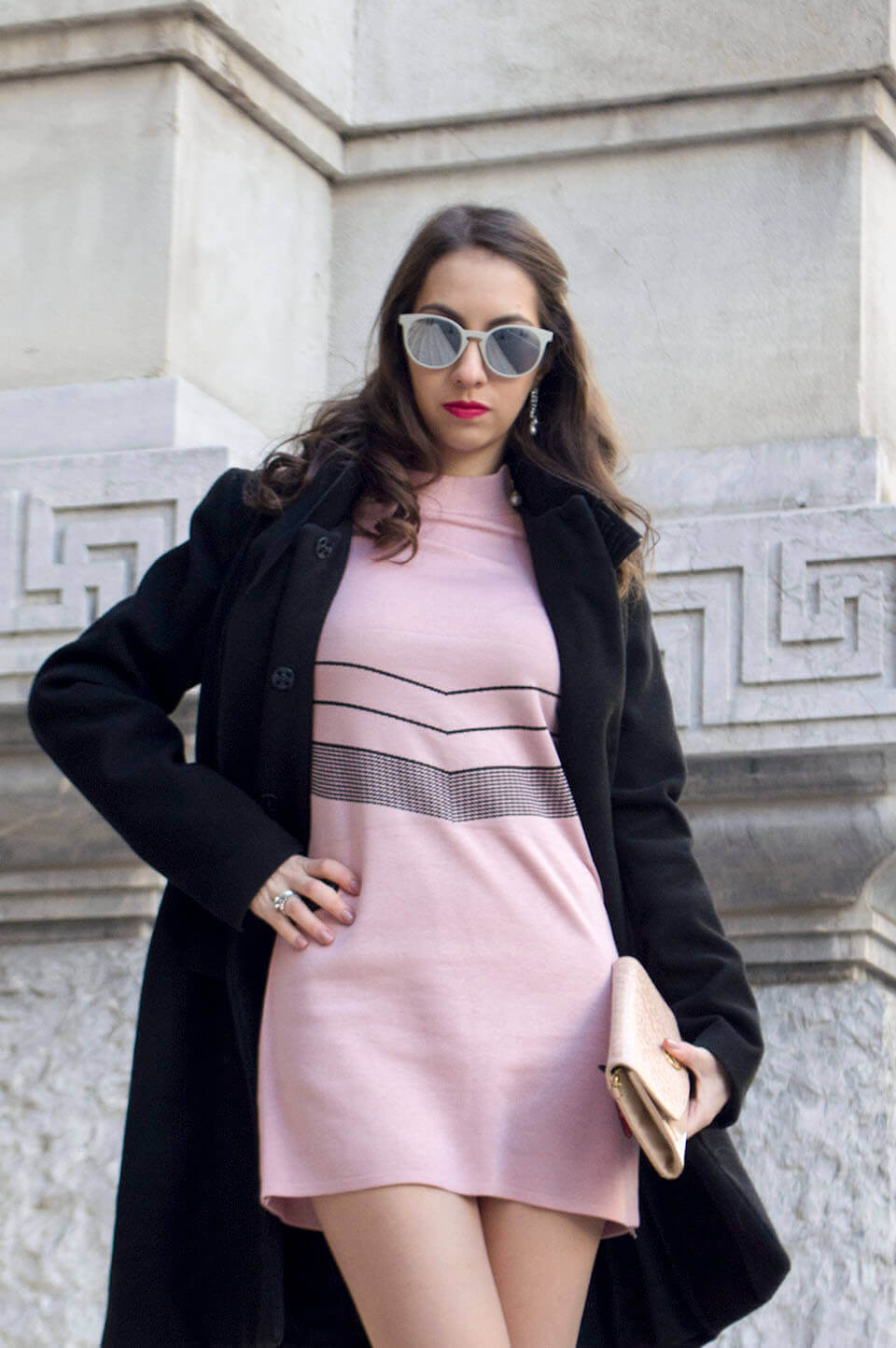 Light pink sweater dress Popjulia