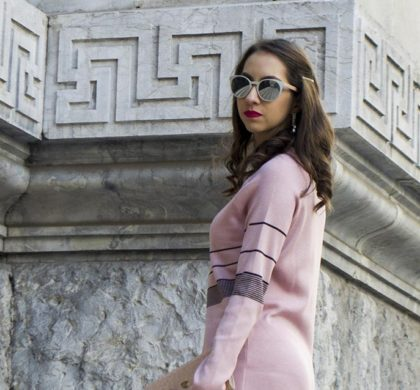 Vestido suéter rosa: Look do dia