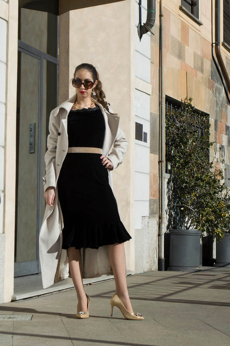 Manu Luize - Stylewe velvet dress