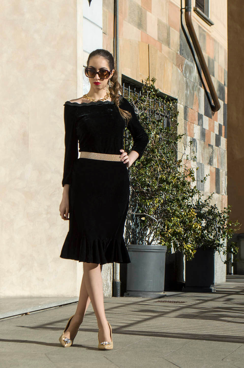 Stylewe velvet dress