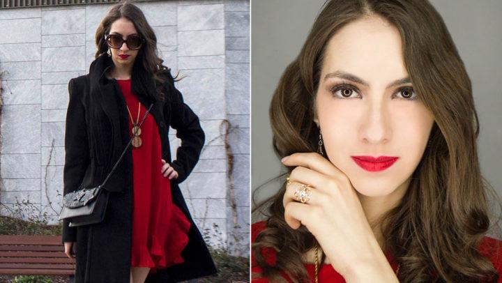 Vestido vermelho na Milan Fashion Week