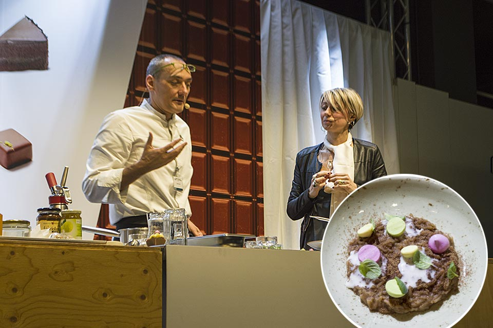 Simone Salvini Showcooking at Salon du Chocolat Milano