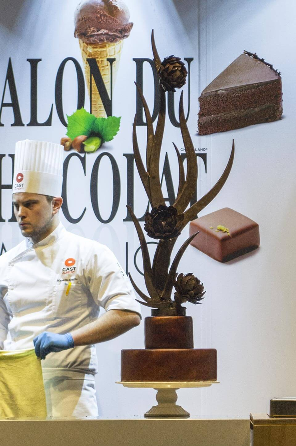 Chocolate Cake at the Salon du Chocolat Milano