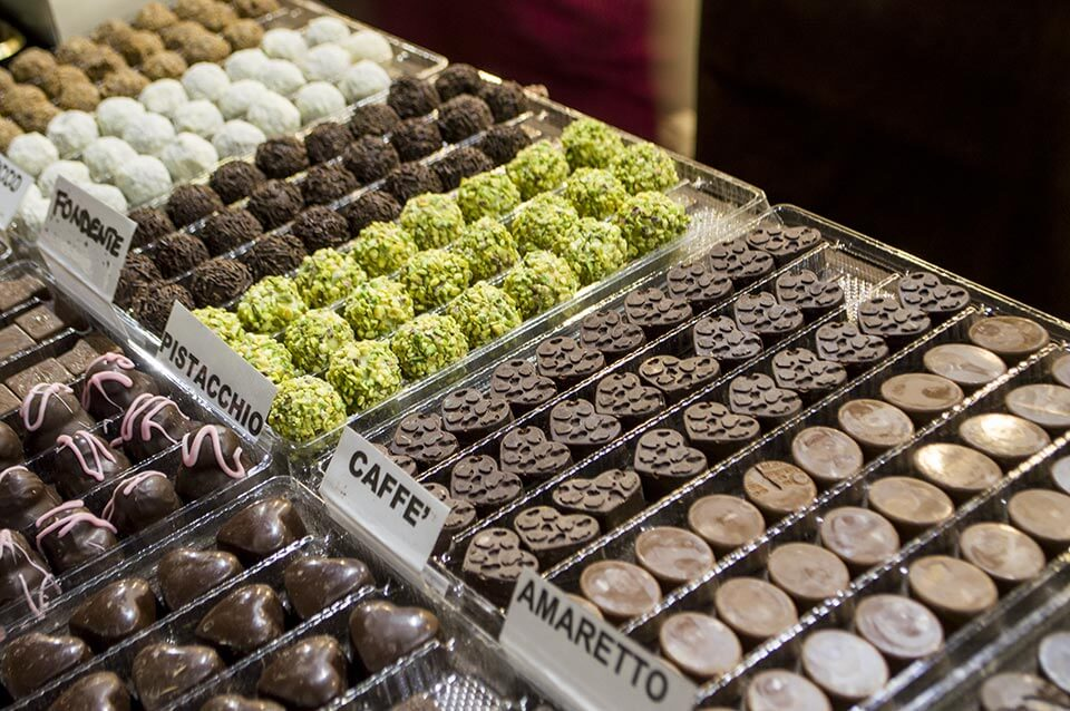 Chocolates in Milan