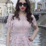 Vestido de renda rosa – Look Primavera/Verão