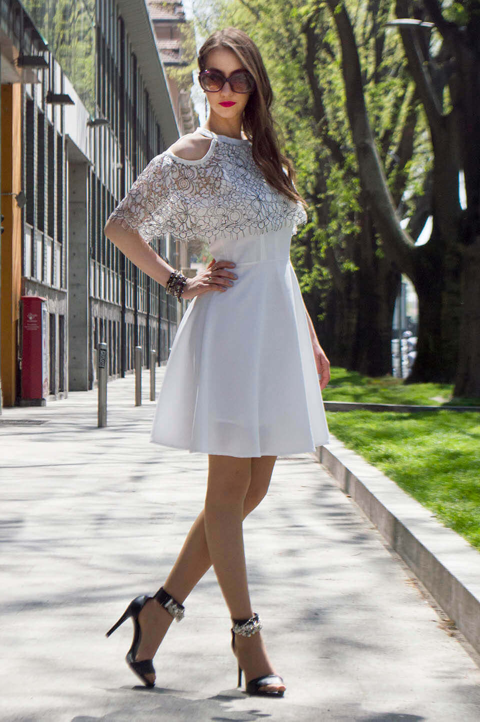 White Short dress for summer - Manu Luize