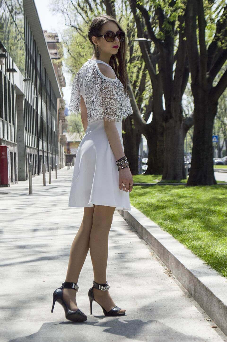 White dress Stylewe - Manu Luize