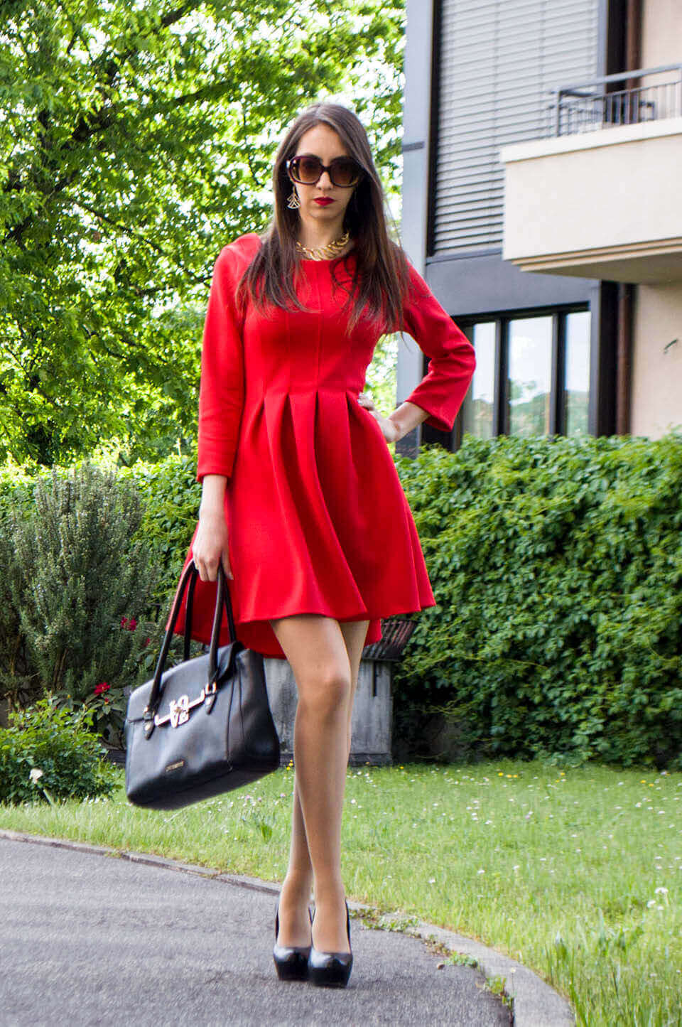 Red dress outfit - Stylewe