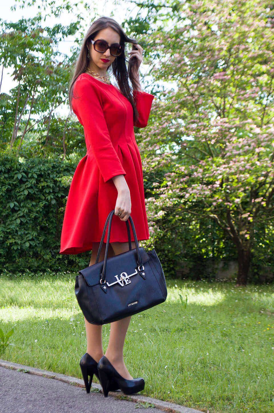 Red dress - Stylewe outfit