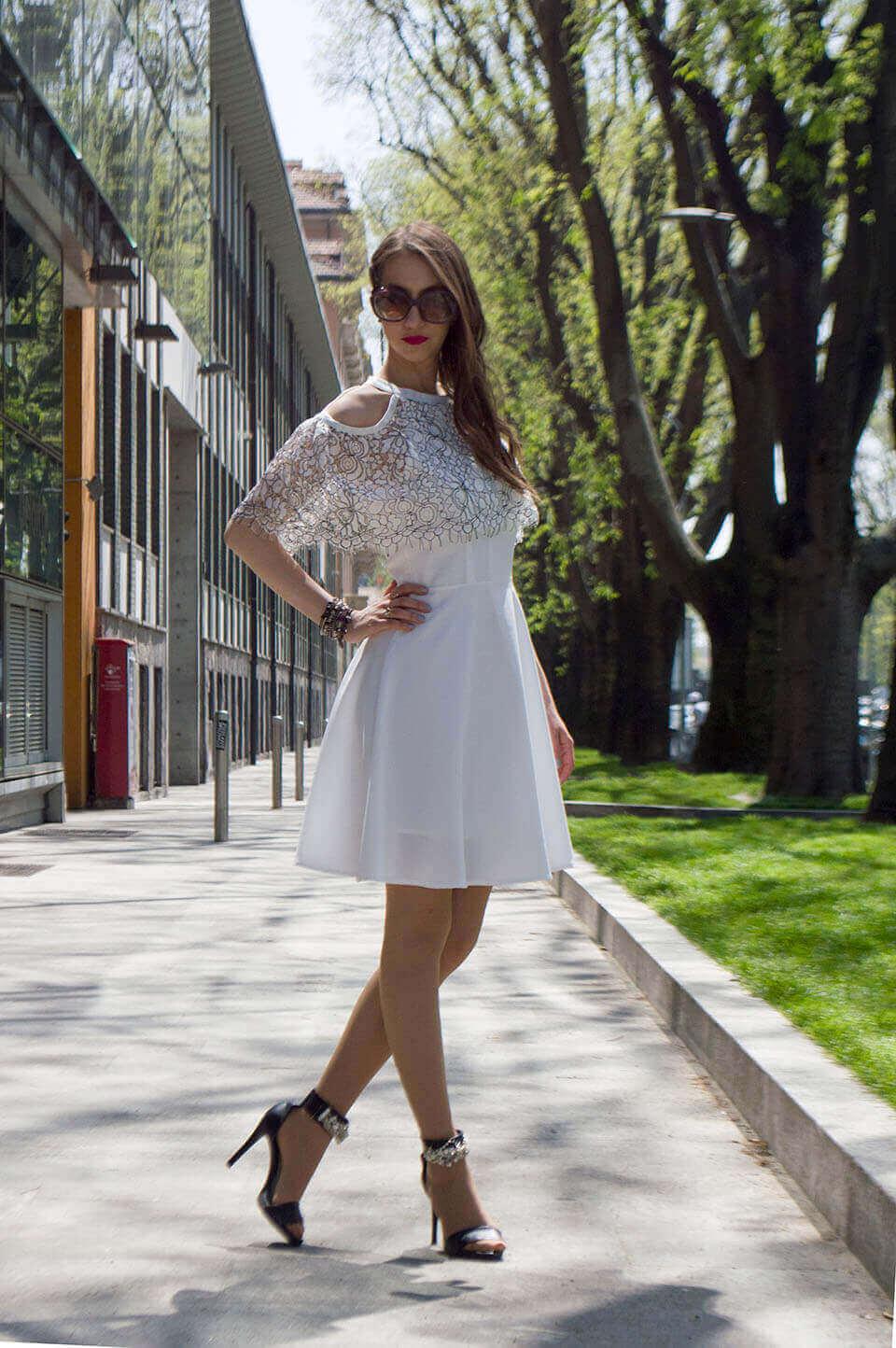 Vestido branco look